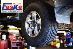 Alinhamento + Balanceamento + Rodízio de Pneus + Check-Up (Suspensão, Freios e Itens de Segurança) no Faske Automotivo: 19,90.