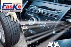 Higienização de Ar-Condicionado + Rodízio de Pneus no Centro Automotivo Faske, de 60,00 por apenas 19,90.