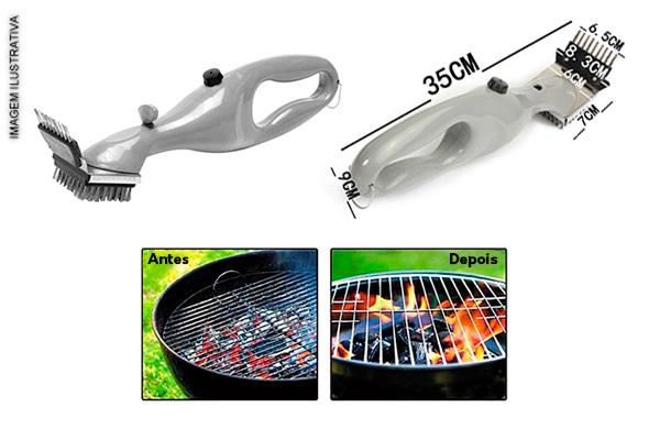 Limpe sua Grelha sem esforço Grill Cleaner - Escova De Limpeza Para Grelha com Frete Grátis para todo o Brasil apenas R$ 65,90