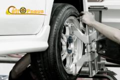1 Alinhamento e 4 Balanceamento na Cétro Pneus para rodas de ferro até aro 15, por 15,90