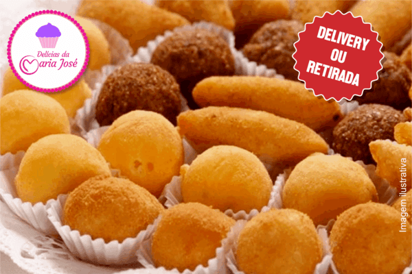 Não pode faltar na sua Festa: 100 Salgados fritos na Delícias da Maria José, por apenas 29,90!