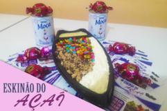 Barca de açaí + 4 ingredientes a sua escolha no Eskinão do açaí de R$16,00 por R$10,90