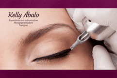 Sessão de Micropigmentação contorno dos olhos delineado com Kelly Abalo, de 300,00 por apenas 149,90.