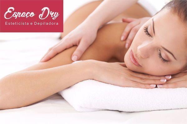 1 sessão de massagem relaxante no Espaço Dry Esteticista e Depiladora por apenas R$ 24,90.