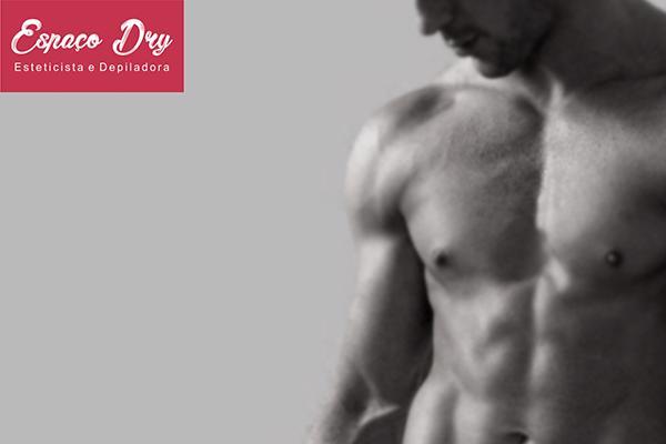 Depilação virilha masculina no Espaço Dry Esteticista e Depiladora por apenas R$ 55,00.