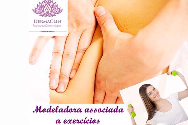 2 sessões modeladora associada a exercícios + Avaliação Fisioterapêutica na Dermaclin Fisioterapia Dermatológica. Por R$ 65,00.