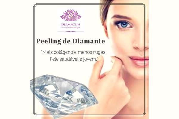 4 sessões tratamento facial para rugas e manchas com peeling diamante na Dermaclin Fisioterapia Dermatológica. Por R$ 129,99.
