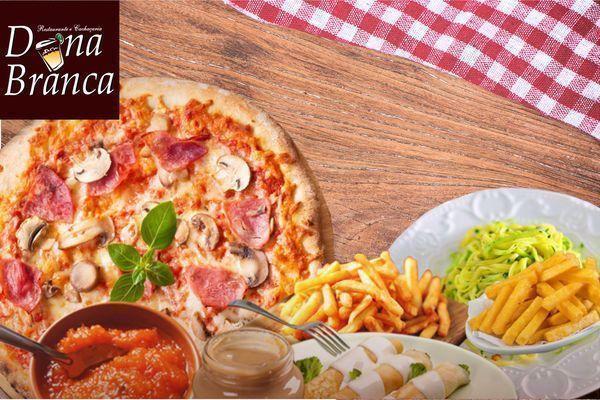 Rodízio de Pizza Completo no Dona Branca por apenas R$ 25,90. CUPONS LIMITADOS CORRA E COMPRE JÁ O SEU.