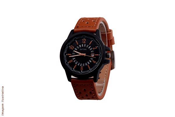 Relógio com pulseira de couro Frete Grátis para todo o Brasil apenas R$ 41,90