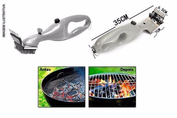 Limpe sua Grelha sem esforço Grill Cleaner - Escova De Limpeza Para Grelha com Frete Grátis para todo o Brasil apenas R$ 77,90