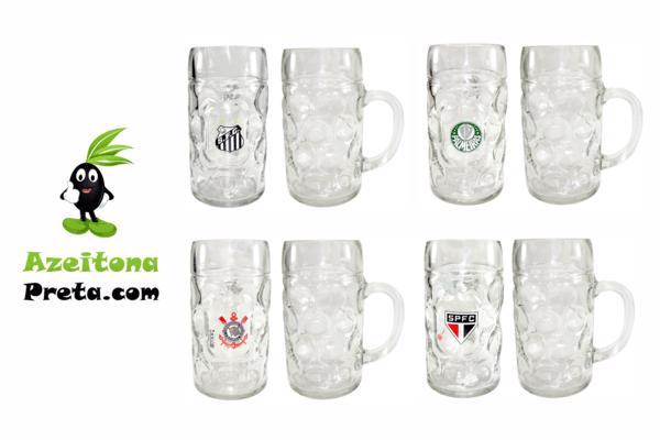 Caneca de vidro personalizada com o escudo do seu time. Ideal para uso no dia a dia! Retirada em Marília! Apenas R$ 49,90!