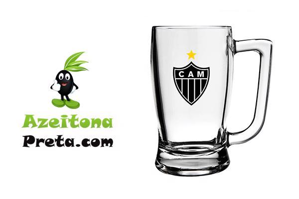 Caneca de Vidro 340ml Atlético-MG na Lata! Por apenas 45,00!