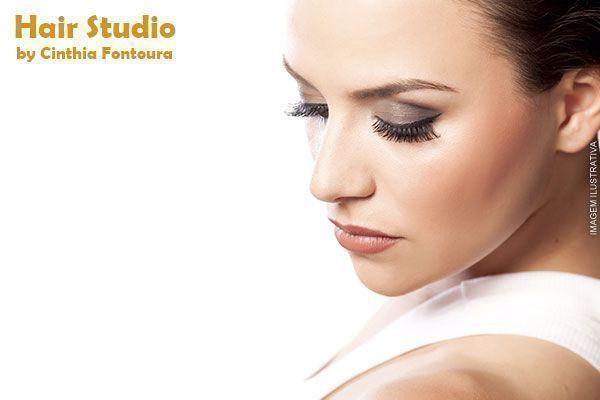 Design de Sobrancelhas + Aplicação de Henna no Hair Studio by Cinthia Fontoura, de 35,00 por 14,90.