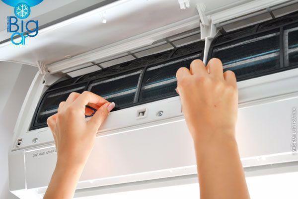 Higienização de Ar-Condicionado Split (9.000 a 12.000 BTUS) na Big Ar, por apenas 80,00. Parcele em até 6x*!
