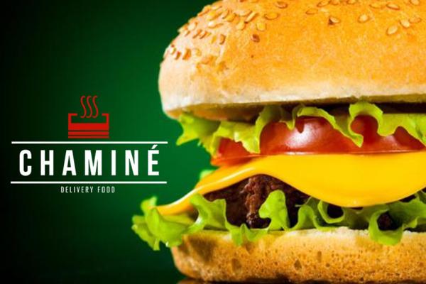 Venha saborear o delicioso Burger Salada do Chaminé Delivery Food. Por apenas R$ 12,90.