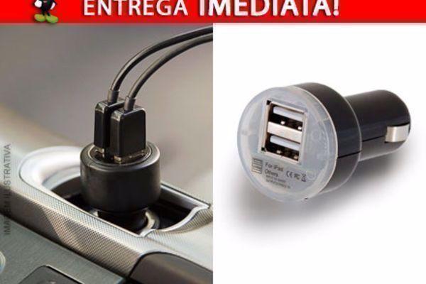 Carregador Veicular com Duplo USB por apenas 30,90! Entrega Imediata com Frete Incluso para todo o Brasil!
