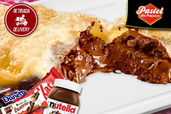 Deliciosos Pastéis Doces com cinco opções para você escolher no Pastel do Paçoca por apenas 9,90.