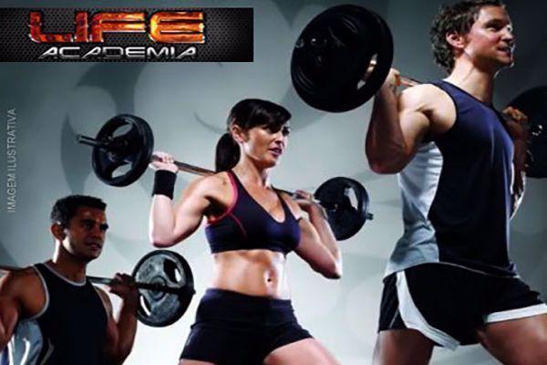 Venha ficar em plena forma! 1 Mês de Musculação na Life Academia por apenas 39,90.