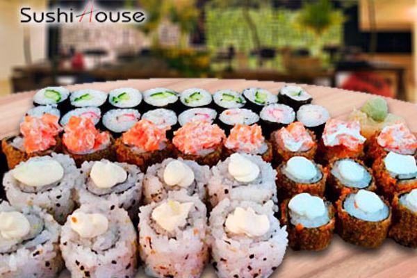 Sushi House!!! Combo de Comida Japonesa com 40 Peças, por apenas 13,99. Últimas unidades.