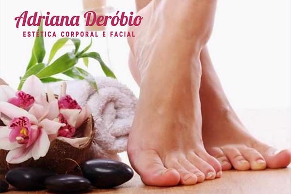 Detox dos pés na Adriana Deróbio( Estetica corporal e facial). De R$ 150,00 por apenas R$ 59,90.