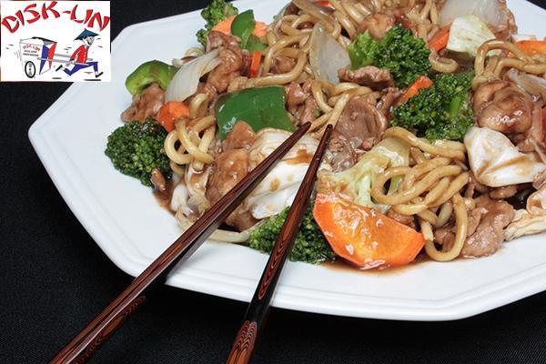 Do Oriente para sua mesa! Disk-Lin Comida Chinesa oferece: Yakisoba Shop Suey Misto (800g), de 43,90 por apenas 15,99.