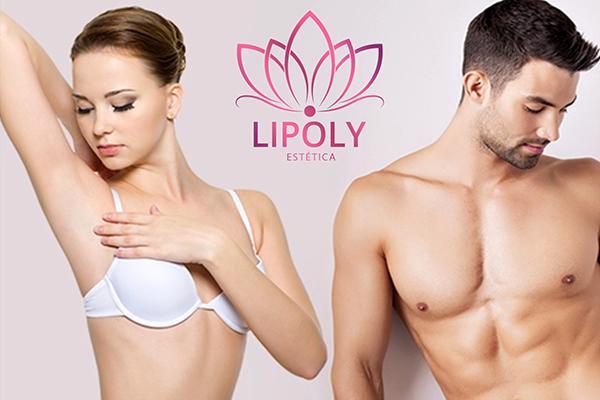 Depilação Definitiva Masculina ou Feminina, área a escolher na Lipoly Estética Facial e Corporal. De R$ 99,90 por R$59,90.