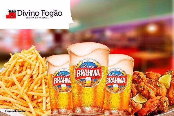 Super Combo! Porção de Frango à Passarinho + Fritas + 3 Chopps Brahma no Boulevard Shopping. Por apenas 36.90!