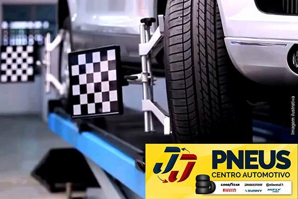 Alinhamento e Balanceamento no JJ Centro Automotivo. De 80,00 por 22,90.
