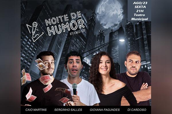 Noite de Humor com o Espetáculo ´Stand-up` no Teatro Municipal! Ingresso de 60,00 por apenas 24,90.