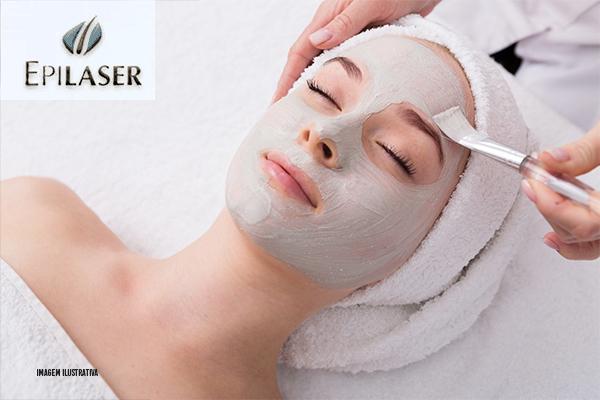 Higiênização facial + esfoliação + peeling químico + aplicação de Dmae. De R$ 90,00 por R$ 35,00 na Epilaser!