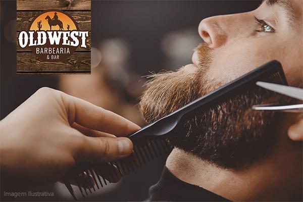 Faça sua Barba na Old West Barbearia & Bar, de 20,00 por apenas 12,99.