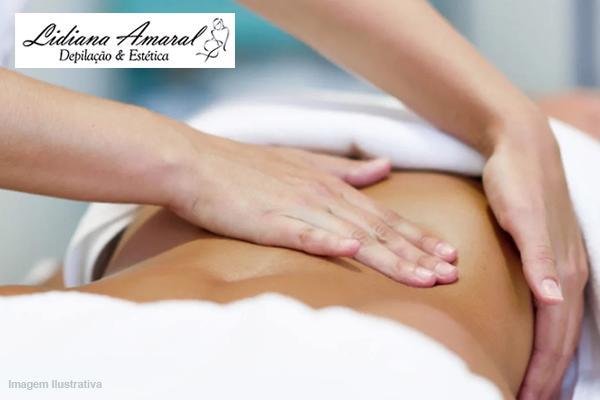 4 Sessões de Drenagem linfática ou Massagem Relaxante, na Lidiana Amaral, de 320,00 por 135,00